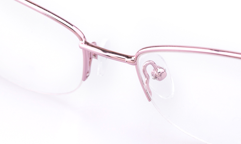 Vista First Stainless Steel Womens Oval Semi Rimless