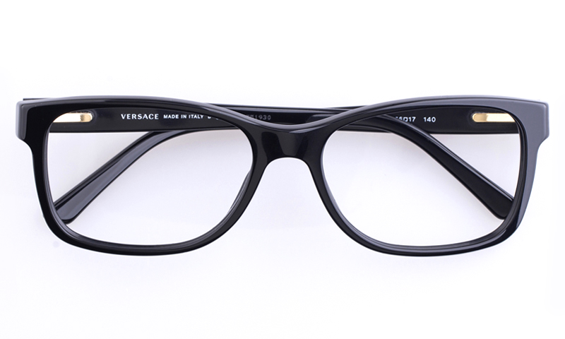 versace ve3173 acetate mens oval full rim optical glassesblack