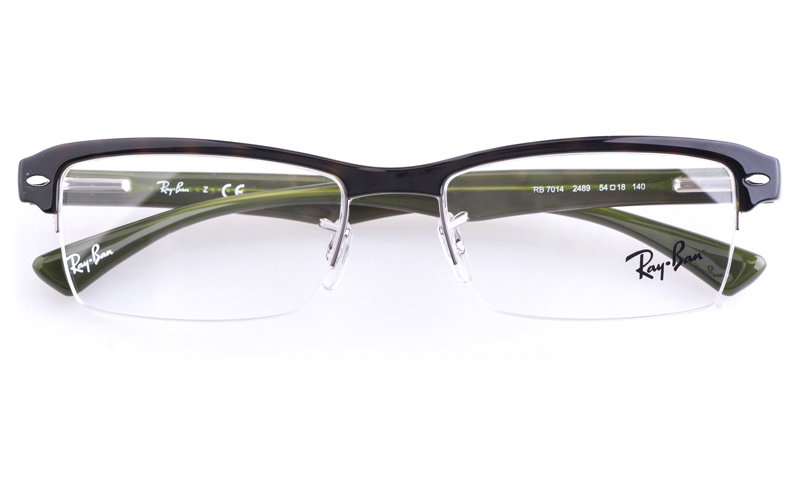 ray ban glass or polycarbonate  these eyeglasses frames come in shiny black acetate with the rayban logo featured on the temples. spring hinges give added comfort for the wearer.