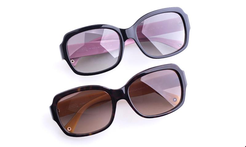 Pink Coach Sunglasses  coach hc8001 acetate womens square full rim sunglasses black pink