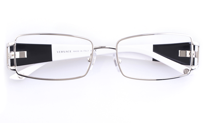 Versace Rimless Sunglasses  versace stainless steel acetate womens square full rim optical glasses