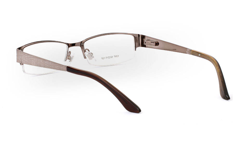 1397 Stainless Steel Mens&Womens Half Rim Optical Glasses