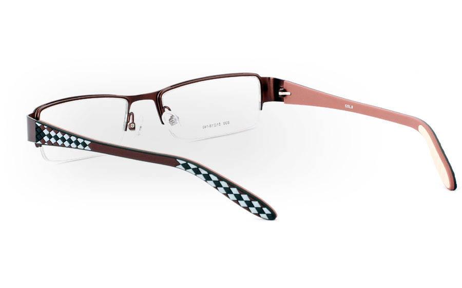 830 Stainless Steel Half Rim Mens Optical Glasses