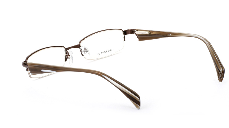 Vista First 1075 Stainless Steel/ZYL Half Rim Mens Optical Glasses