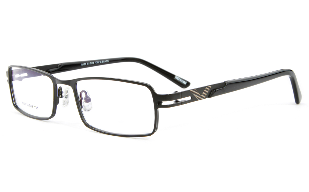 Vista First F8107 Stainless Steel Full Rim Mens Optical Glasses