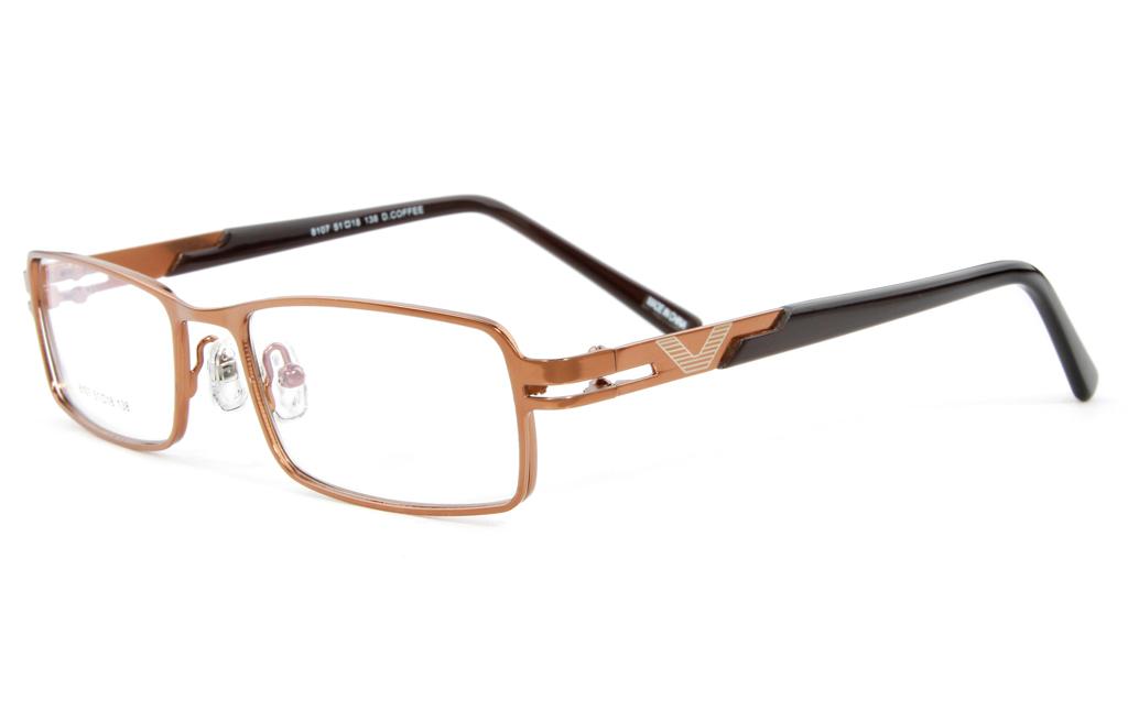 Vista First F8107 Stainless Steel Full Rim Mens Optical Glasses