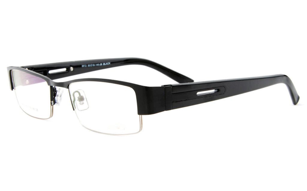 Poesia 6622 Stainless Steel Mens&Womens Semi-rimless Optical Glasses