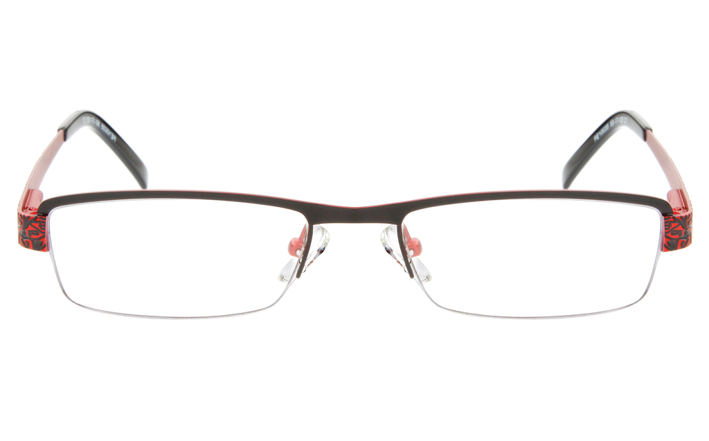 10035 Stainless Steel Womens Semi-rimless Square Optical Glasses