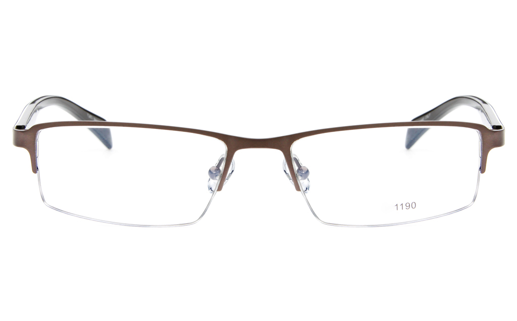 Eyeglass Frames Square : Stainless Steel/ZYL Mens Semi-rimless Square Optical Glasses