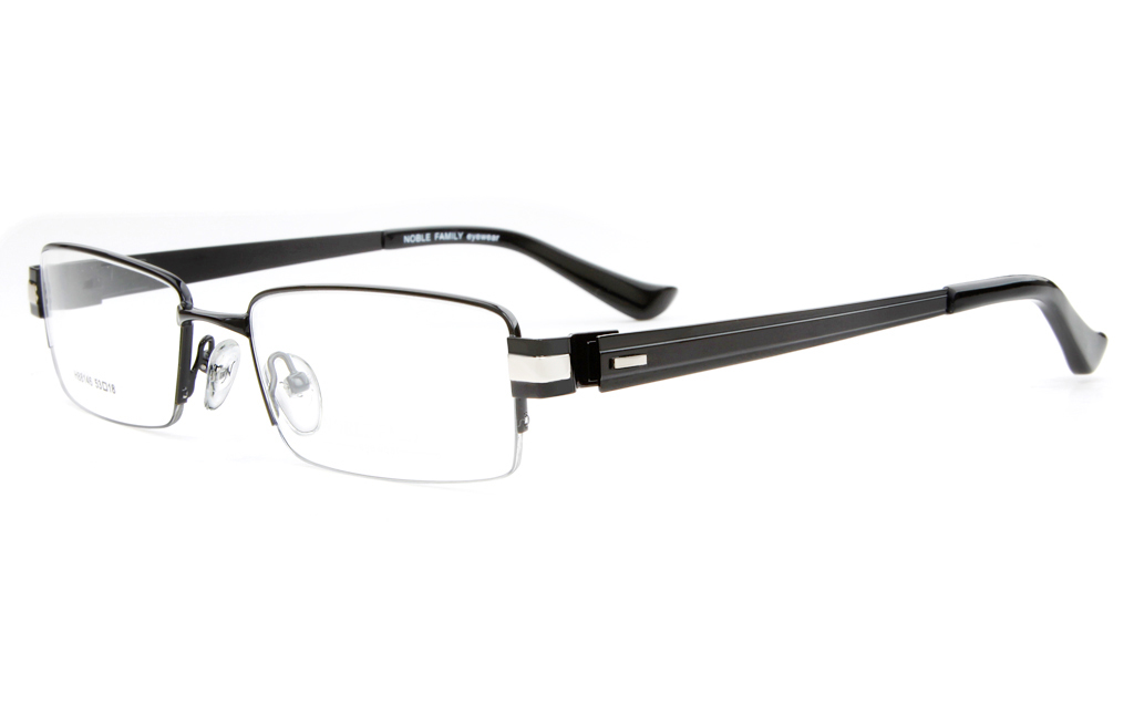 H88146 Stainless Steel Mens Full Rim Square Optical Glasses