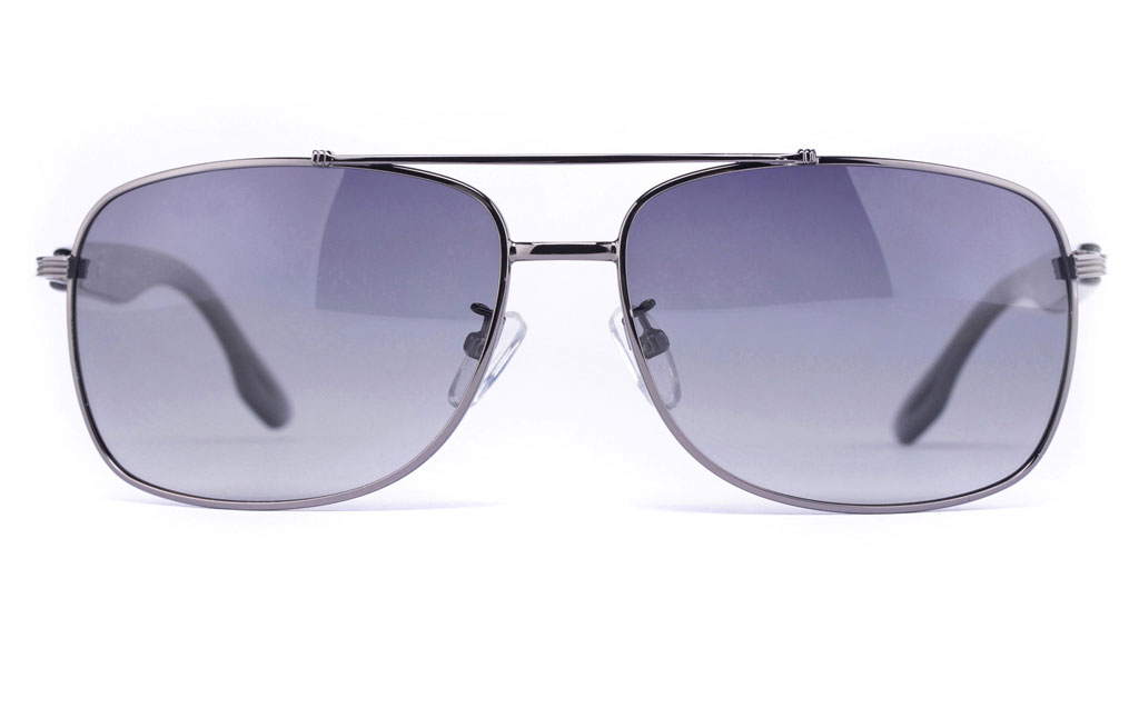 Vista Sport P1302 Stainless Steel Mens Oval Full Rim Sunglasses