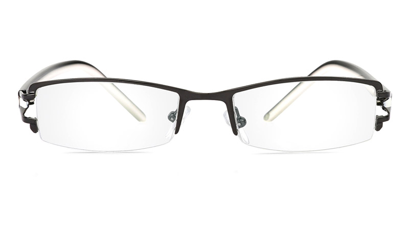 Vista First 1062 Stainless Steel/ZYL Mens&Womens Half Rim Optical Glasses