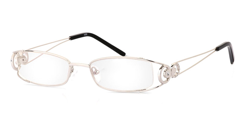 Vista First 1070 Stainless Steel/ZYL Half Rim Womens Optical Glasses