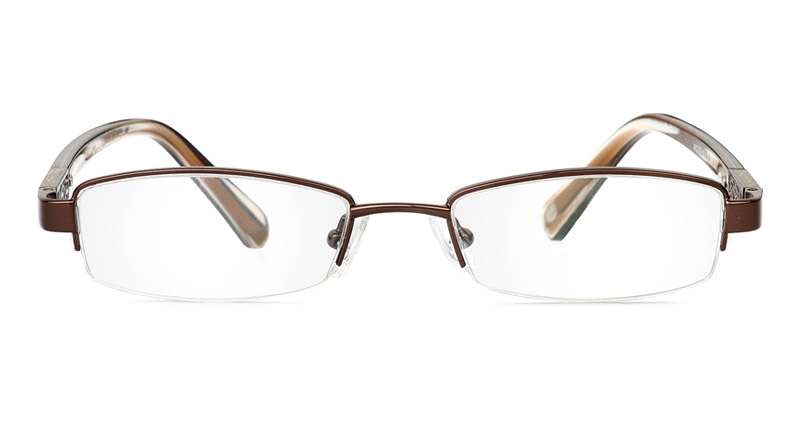 Vista First 1049 Stainless Steel/ZYL Mens&Womens Half Rim Optical Glasses