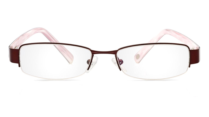 Vista First 1078 Stainless Steel/ZYL Half Rim Mens Optical Glasses