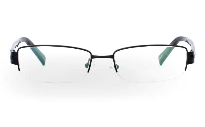 9857 Monel Mens&Womens Half Rim Optical Glasses