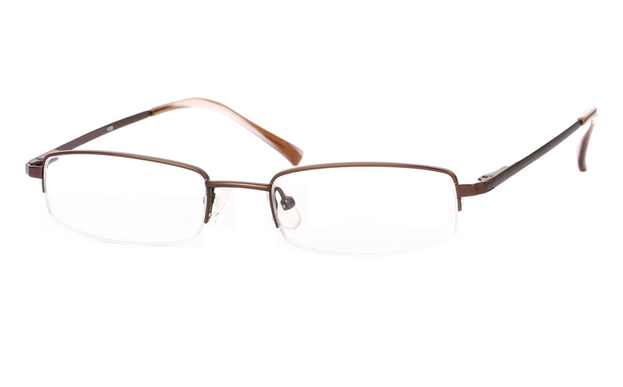 Vista First 1029 Stainless Steel/ZYL Half Rim Mens Optical Glasses