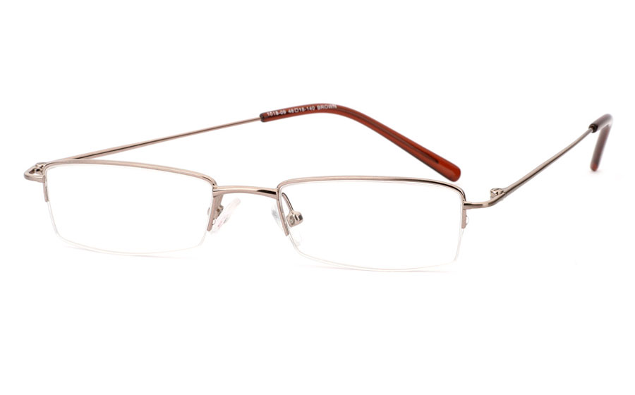 Vista First 1018 Stainless Steel/ZYL Half Rim Mens Optical Glasses