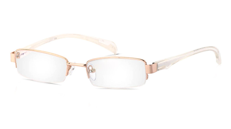 Vista First 1079 Titanium Memory Mens&Womens Half Rim Optical Glasses
