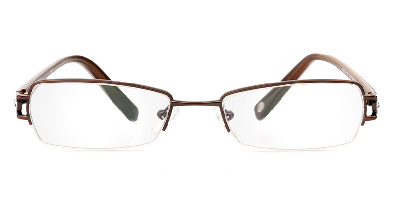Vista First 1092 Stainless Steel Semi-rimless Womens Optical Glasses