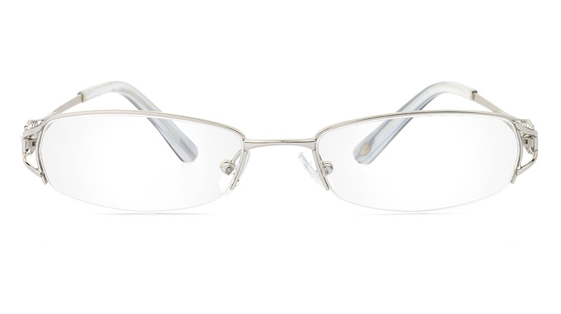 Vista First 1801 Stainless Steel Semi-rimless Womens Optical Glasses