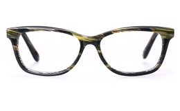 Vista First 0196 Acetate(ZYL) Womens Full Rim Optical Glasses for Fashion,Classic,Party,Wood Bifocals