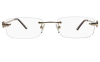 Vista First 8928 Stainless steel/ZYL Womens Rimless Optical Glasses