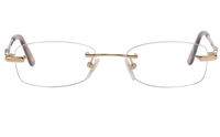 Vista First 8938 Stainless steel/ZYL Womens Rimless Optical Glasses