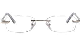 Vista First 8938 Stainless steel/ZYL Womens Rimless Optical Glasses for Fashion,Classic,Nose Pads Bifocals
