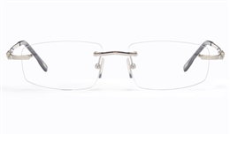 Vista First 8952 Stainless steel/ZYL Mens Rimless Optical Glasses for Fashion,Classic,Nose Pads Bifocals