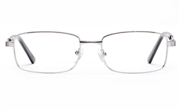 Poesia 6663 Stainless Steel Mens   Womens Full Rim Optical Glasses for Fashion,Classic,Nose Pads Bifocals