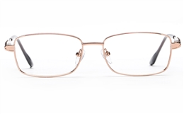 Poesia 6658 Stainless Steel Womens Full Rim Optical Glasses for Fashion,Classic,Nose Pads Bifocals