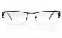 Poesia 6057 Stainless Steel Mens Semi-rimless Optical Glasses