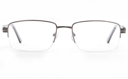 Poesia 6660 Stainless Steel Mens Semi-rimless Optical Glasses for Fashion,Classic,Nose Pads Bifocals