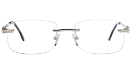 Vista First 8940 Stainless steel/ZYL Mens Rimless Optical Glasses for Fashion,Classic,Nose Pads Bifocals