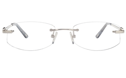 Vista First 8942 Stainless steel/ZYL Womens Rimless Optical Glasses for Fashion,Classic,Nose Pads Bifocals