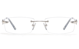 Vista First 8946 Stainless steel/ZYL Womens Rimless Optical Glasses for Fashion,Classic,Nose Pads Bifocals