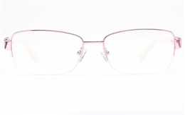 Vista First 8826 Stainless steel/ZYL Womens Semi-rimless Optical Glasses for Fashion,Classic,Party,Nose Pads Bifocals