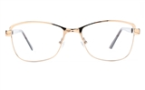 Poesia 6067 Stainless Steel Womens Full Rim Optical Glasses