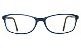 Poesia 7026 TR90/ALUMINUM Womens Full Rim Optical Glasses for Fashion,Classic,Nose Pads Bifocals