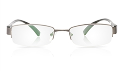 Vista First 1089 Aluminum Mens Womens Half Rim Optical Glasses for Fashion,Nose Pads Bifocals