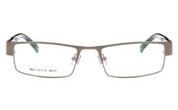 Poesia 6621 Stainless Steel Mens Womens Full Rim Optical Glasses for Fashion,Classic,Sport,Nose Pads Bifocals