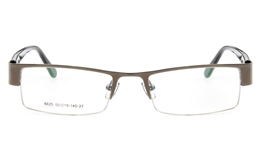 Poesia 6625 Stainless Steel Mens Womens Semi-rimless Optical Glasses for Fashion,Classic,Sport,Nose Pads Bifocals