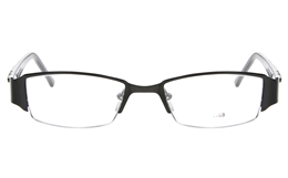 E1188 Stainless Steel/ZYL Mens Semi-rimless Square Optical Glasses for Fashion,Party,Nose Pads Bifocals