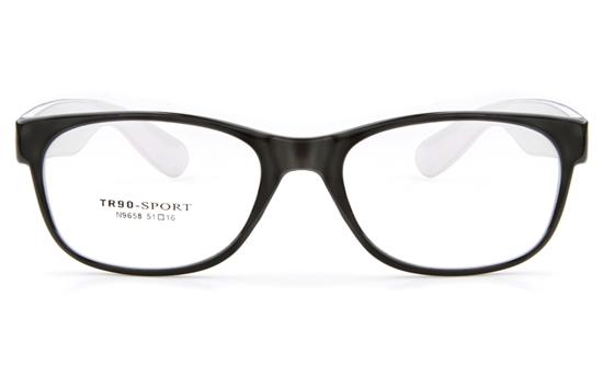 N9658 TR90 Womens Full Rim Wayfarer Optical Glasses