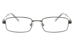 Vista First 2118 Titanium Memory Mens Womens Full Rim Square Optical Glasses for Fashion,Classic,Nose Pads Bifocals