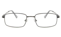 Vista First 2116 Titanium Memory Mens Full Rim Square Optical Glasses for Fashion,Classic,Nose Pads Bifocals