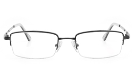 Vista First 2120 Titanium Memory Mens Womens Semi-rimless Square Optical Glasses for Fashion,Classic,Nose Pads Bifocals
