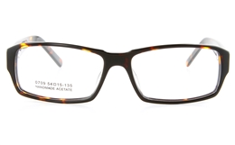 Vista First 0709 Acetate(ZYL) Mens Full Rim Optical Glasses - Square Frame for Fashion,Classic Bifocals