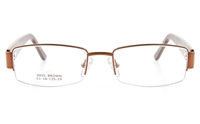 Vista First 8805 Stainless Steel/ZYL  Womens Semi-rimless Optical Glasses - Oval Frame
